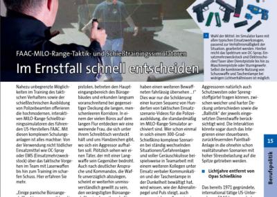 Artikel im Polizeispiegel veröffentlicht
